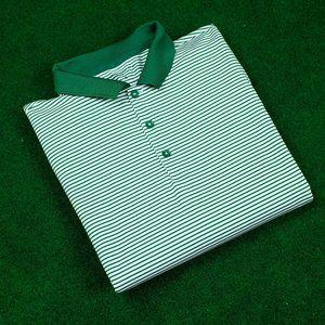 Nike Golf DRI-FIT White w/ Green Striped Polo